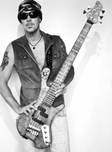 Chuck Jones with his custom 5-string Tom Clement Bass!