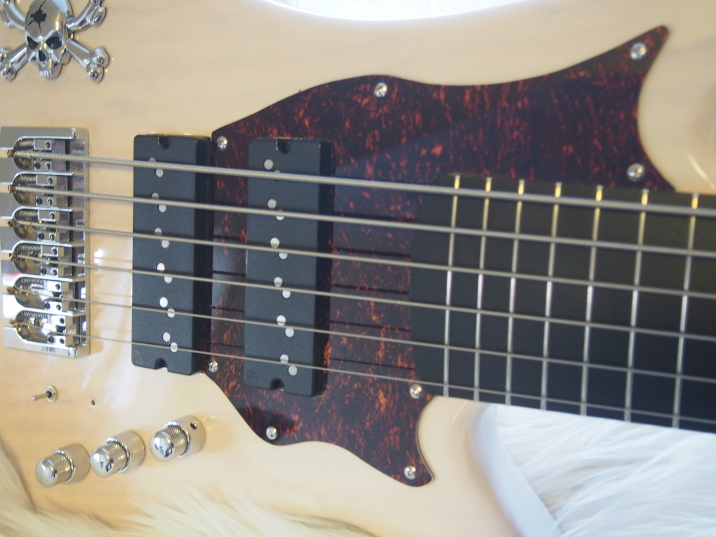 The tortoise pickguard compliments the retro bass in a fantastic way!